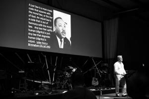 MLK and Me preaching